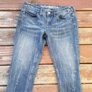 Express ReRock Crop Jeans Relaxed Fit